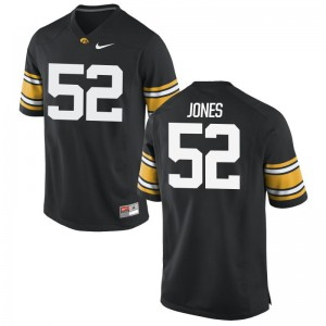 Amani Jones Hawkeyes For Men Jersey Black High School Limited Jersey