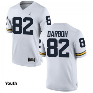 Michigan Wolverines Amara Darboh For Kids Limited University Jerseys Jordan White