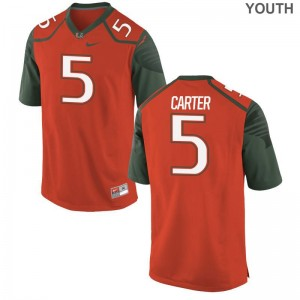 Amari Carter Youth Jerseys X Large Orange Limited Hurricanes
