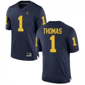 Limited Michigan Ambry Thomas Mens Jordan Navy Jersey