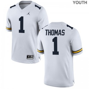 Ambry Thomas For Kids Jersey Large Limited University of Michigan - Jordan White