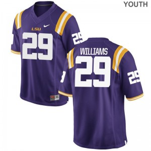For Kids Andraez Williams Jerseys S-XL Tigers Purple Limited