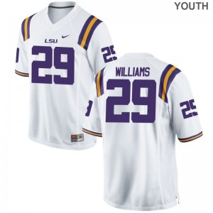 Youth(Kids) Limited LSU Jerseys Andraez Williams White Jerseys
