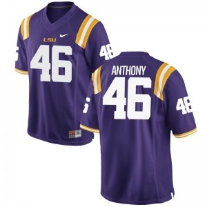 Louisiana State Tigers Limited Mens Purple Andre Anthony Jersey Mens Small