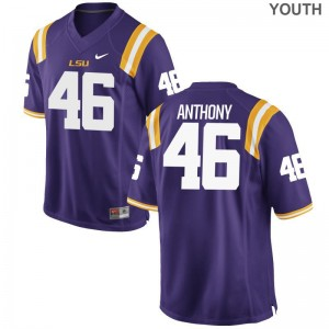 Purple Andre Anthony Jerseys S-XL LSU Tigers Limited Kids