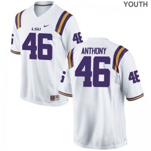 Kids Andre Anthony Jerseys Youth Medium Louisiana State Tigers Limited - White