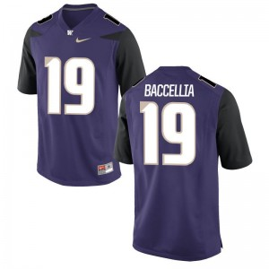 Washington Huskies Limited Purple For Men Andre Baccellia Jerseys Men Large
