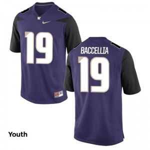 UW Jersey Youth Medium Andre Baccellia For Kids Limited - Purple
