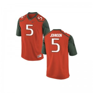 Miami Hurricanes Andre Johnson Youth Limited Jerseys Orange_Green