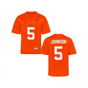 Kids Andre Johnson Jersey Large University of Miami Limited Orange