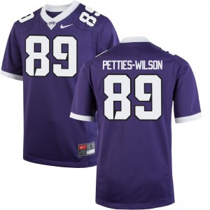 TCU Limited Andre Petties-Wilson For Men Purple Jerseys Mens Small