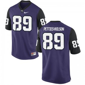 Horned Frogs Andre Petties-Wilson Jersey Youth X Large Kids Purple Black Limited