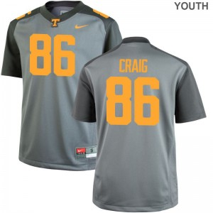 Andrew Craig Kids Jerseys Youth XL Gray Tennessee Volunteers Limited