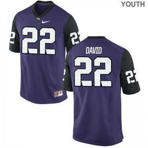 TCU Horned Frogs Jersey XL of Andrew David Youth(Kids) Limited - Purple Black