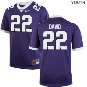 Purple Andrew David Jerseys Youth XL Horned Frogs Limited Kids