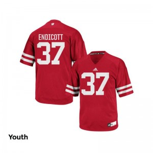 Andrew Endicott Youth(Kids) Jerseys Youth X Large Wisconsin Badgers Authentic - Red