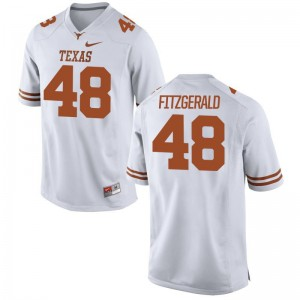 University of Texas Mens Limited White Andrew Fitzgerald Jersey S-3XL