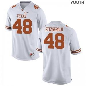 UT Limited White For Kids Andrew Fitzgerald Jerseys Youth X Large