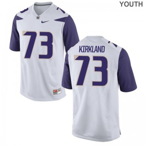 Limited Kids Washington Jersey Youth Large Andrew Kirkland - White