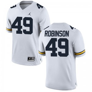 Andrew Robinson Limited Jersey Mens Player University of Michigan Jordan White Jersey