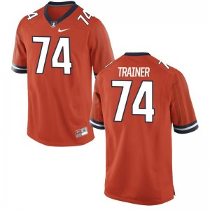 Fighting Illini Andrew Trainer Jersey 2XL Orange For Men Limited