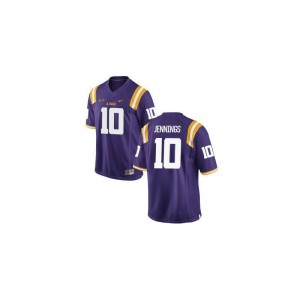 Limited Purple Anthony Jennings Jerseys XL Mens LSU Tigers