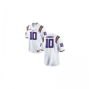 Anthony Jennings Tigers Mens Jersey White Stitched Limited Jersey