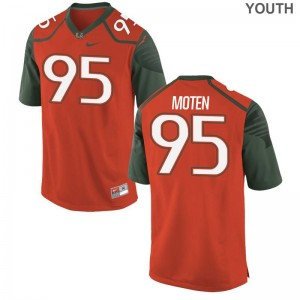 Miami Hurricanes Youth Limited Orange Anthony Moten Jerseys XL
