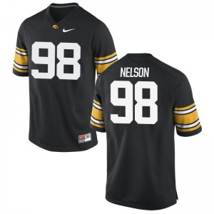Anthony Nelson Men Black Jersey Hawkeyes Limited