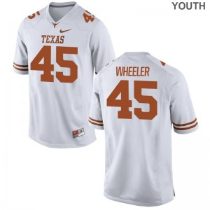 Anthony Wheeler Jersey UT White Limited Kids College Jersey