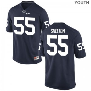 Nittany Lions Antonio Shelton Jerseys Youth Medium Youth(Kids) Navy Limited