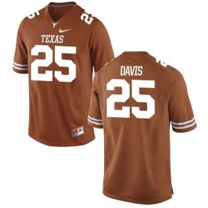University of Texas Limited Antwuan Davis Youth(Kids) Orange Jerseys X Large
