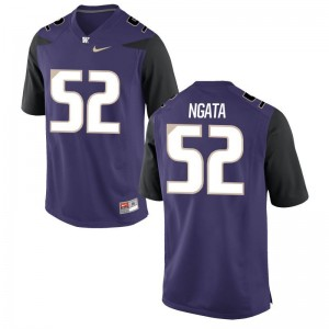 Washington Ariel Ngata Jerseys 3XL Limited Purple For Men