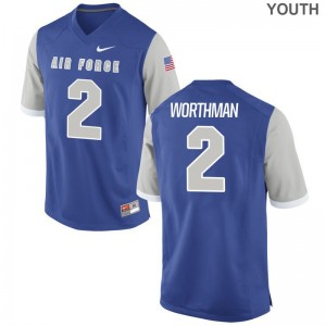 Arion Worthman Limited Jerseys For Kids Air Force Falcons Royal Jerseys