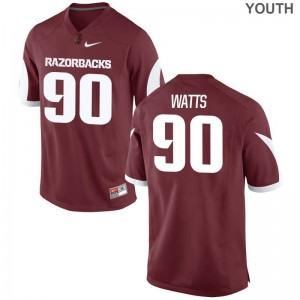Small University of Arkansas Armon Watts Jersey Player Youth(Kids) Limited Cardinal Jersey