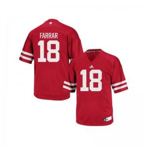 Wisconsin Badgers Jerseys of Arrington Farrar Authentic Men - Red
