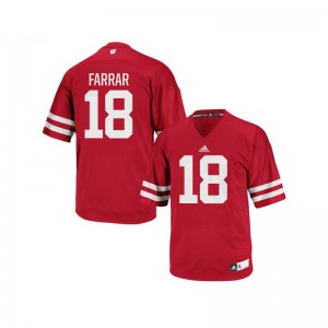Arrington Farrar Mens Jerseys Men Small Red Replica Wisconsin Badgers