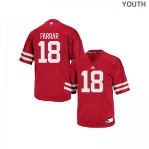 Red Arrington Farrar Jersey Youth Medium Wisconsin Youth Authentic