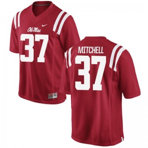 Limited Art Mitchell Jerseys Ole Miss Mens - Red