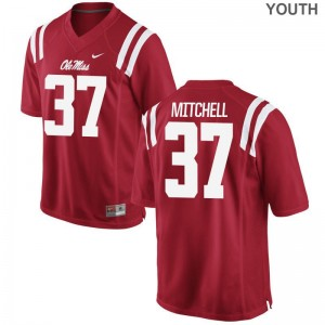 Art Mitchell Rebels Jersey Large Limited Red Kids