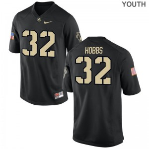 Artice Hobbs Youth(Kids) Black Jerseys Youth XL Army Black Knights Limited