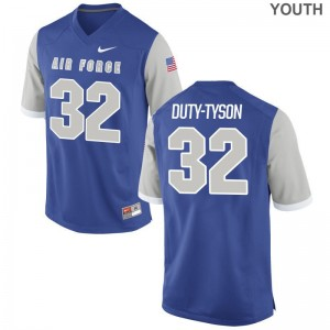 Air Force Kids Royal Limited Aubrey Duty-Tyson Jerseys Youth Large