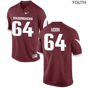 Arkansas Razorbacks Audry Horn Limited Kids Jerseys - Cardinal