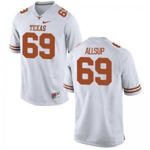 For Men Limited Texas Longhorns Jerseys Austin Allsup White Jerseys