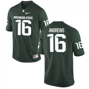 Austin Andrews Men Michigan State Jerseys Green Limited Jerseys