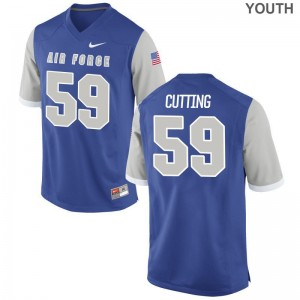Air Force Limited Kids Royal Austin Cutting Jersey XL