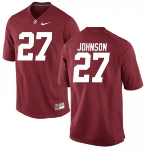 Austin Johnson Alabama Jersey Small Limited Men Red