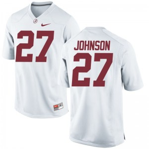 Austin Johnson Alabama Crimson Tide Jerseys Mens XXL White For Men Limited
