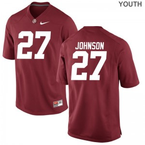 Bama Limited Red Youth(Kids) Austin Johnson Jersey Youth Large