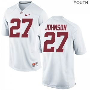 Alabama Crimson Tide Austin Johnson Jersey Youth Large White Limited Kids